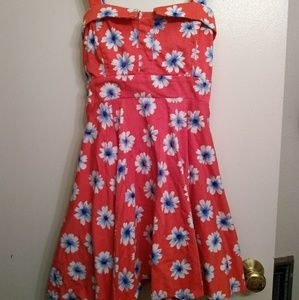 Modcloth x Ixia Floral Dress